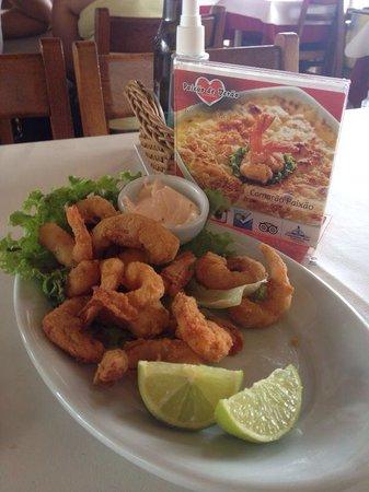 Restaurante Paixao de Verao: Camarão milanesa enormes