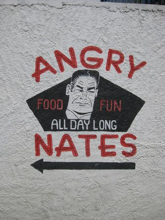 Angry Nate's: Their sign
