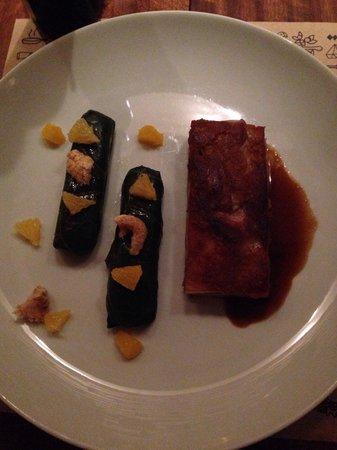 Nez Bistro Boa Viagem : Cochonelle (ou algo assim... Rs): surpreendente mistura de porco, couve, feijão, torresmo e lara