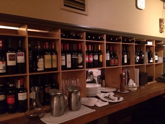 Carmelo's Ristorante Italiano: The wines. Room temperature. Ask them to chill one for you.