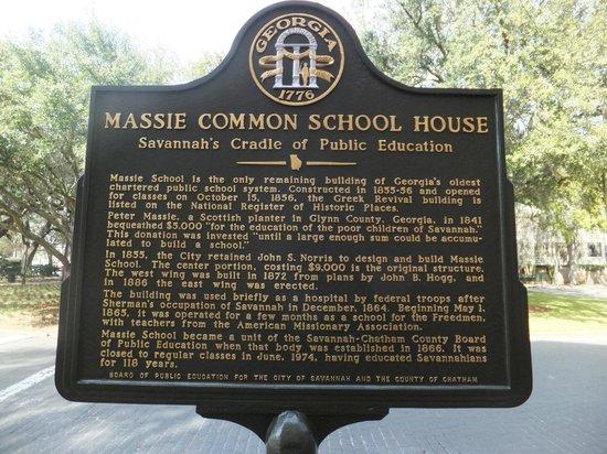 Massie Heritage Center: Description of the school