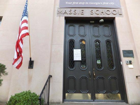 Massie Heritage Center: The front door