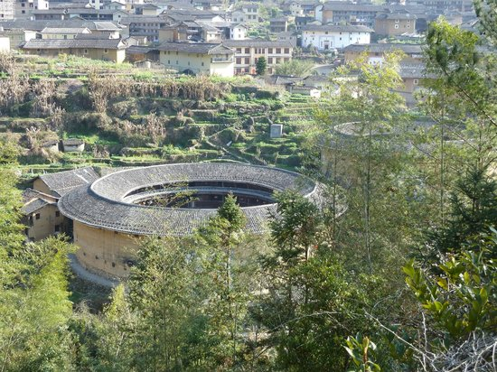 Chuxi Tulou: View from hill 3