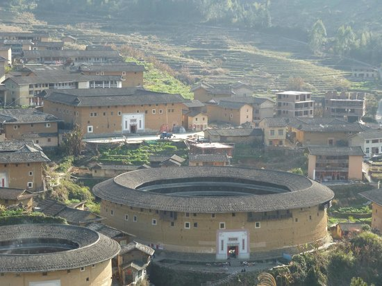 Chuxi Tulou: View from hill 1