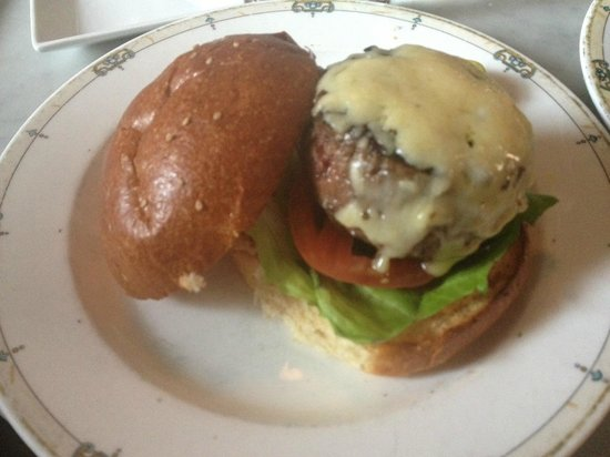 Village Whiskey: signature burger