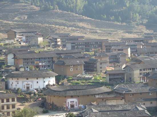 Chuxi Tulou: Veiw from hill 2