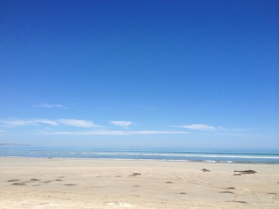 Aldinga Beach lots of white sand and open space