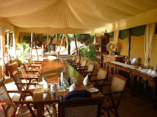 Elephant Pepper Camp: The stylish dining room from a bygone era.
