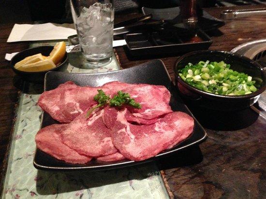 Gyu-Kaku Japanese BBQ Dining: ネギタン。