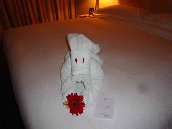 Hilton Colombo : towell animal on bed