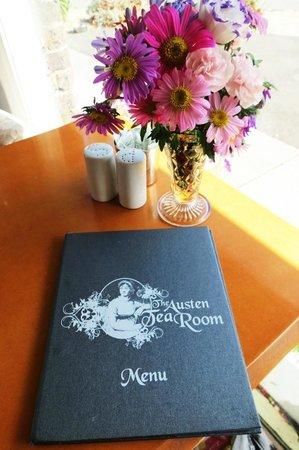 The Austen Tea Room: The menue