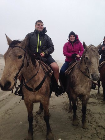 C & M Stables: Riding on a blistering wind ride but still a great experience!