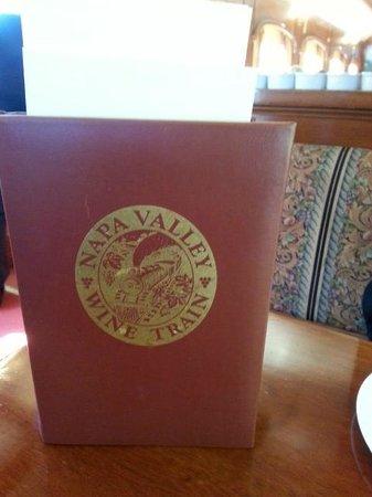 Napa Valley Wine Train: Menu
