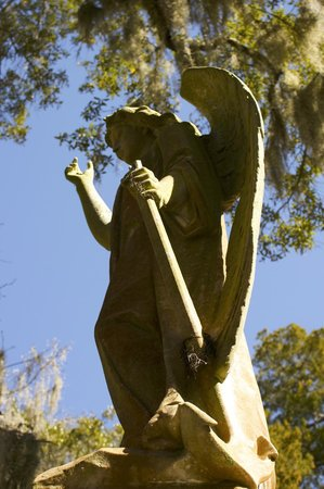 All About Savannah Tours: Angel statue in Bonaventure