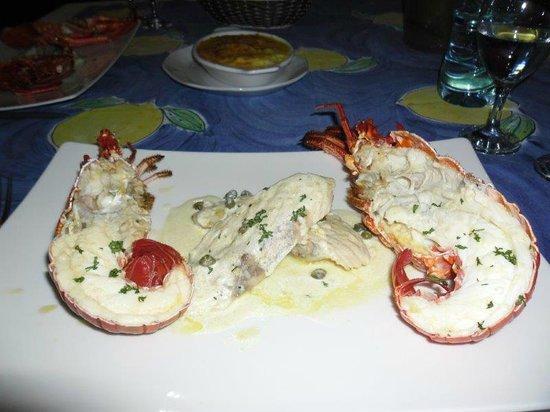 Le Bonheur Villa: Lobster und Fisch von Bernand
