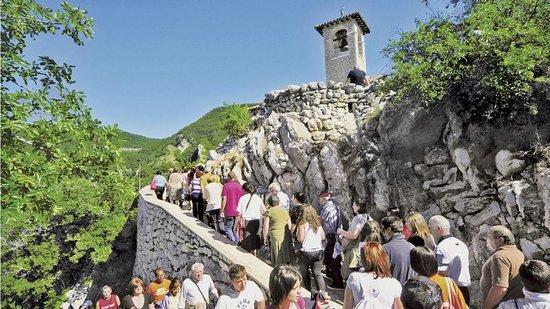 Cascia, Italia: Salita allo Scoglio di Santa Rita