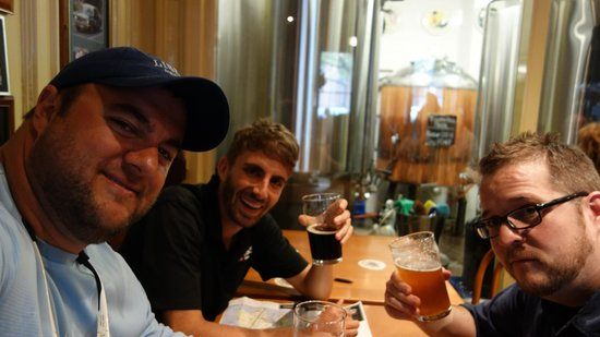 Bonza Bike Tours : Having a beer with Adam the Tour Guide