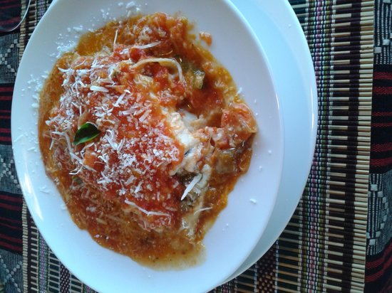 Restaurant Trattoria - La Terrasse : quando ho visto questa lasagna mi sono sentita come davanti a un pozzo d'acqua fresca in mezzo a