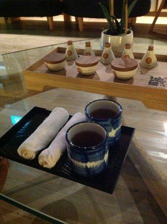 Ikeda Spa: Served tea