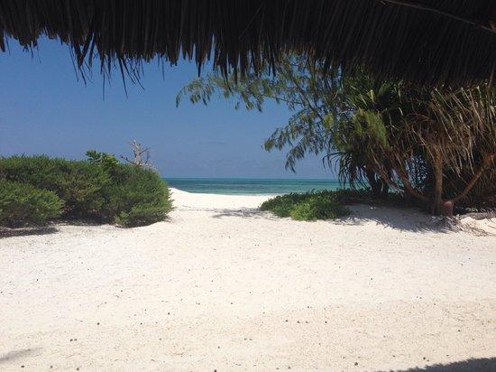 Hakuna Majiwe Beach Lodge : Hakuna majiwe, vista dalla sala relax
