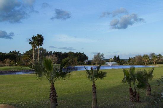 Hotel Isla Canela Golf: Campo de Golf (visto desde el Hotel)