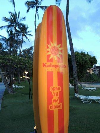 Marriott's Kaua'i Beach Club: Beach facilities: interesting sign