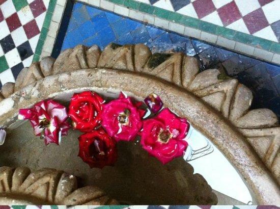 Riad Saba : Rosor i fontänen.