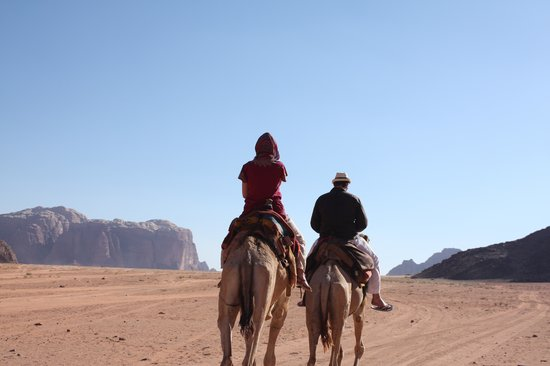 Wadi Rum Candles Camp: On the way to the camp