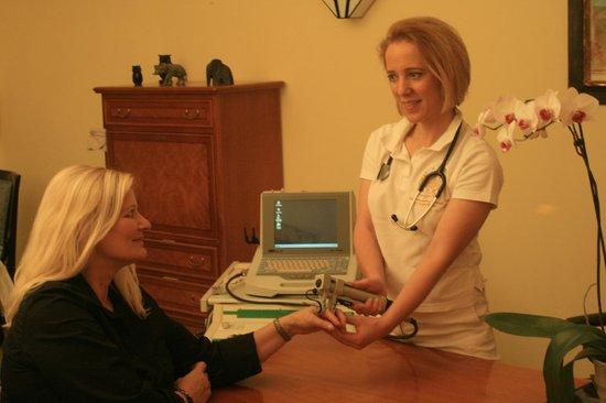 Hotel Maasberg Therme : Osteoporose-Untersuchung