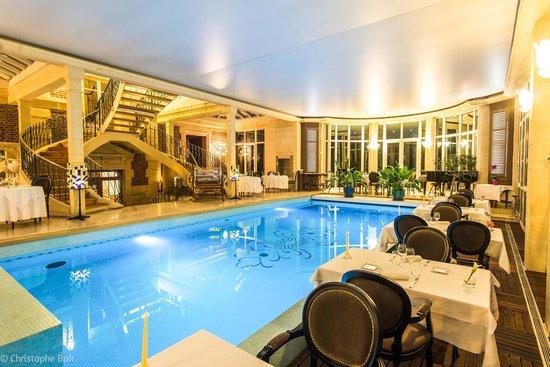 les jardins depicure la piscine du restaurant - Jardin D Epicure