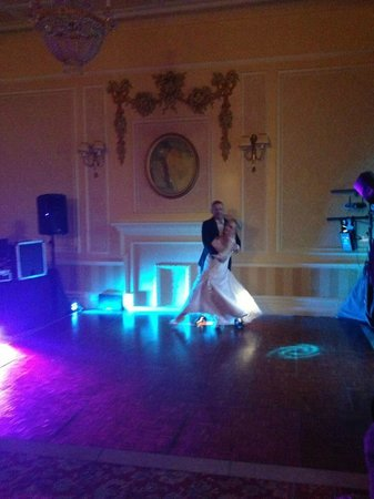 The George Hotel: The dance floor was laid for our bridal waltz.