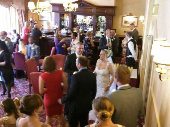 The George Hotel: The Regency Room where canapes and drinks were served post wedding ceremony.