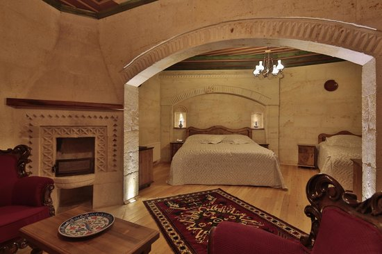 Shows cool hotel in Goreme, Turkey