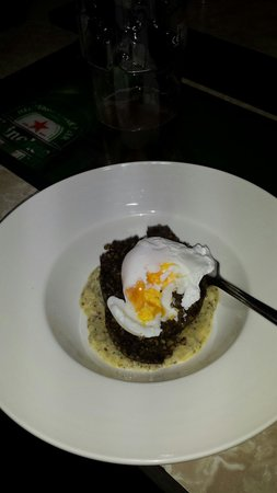 The Strand Lodge: Burns night haggis, mustard sauce and perfect poached egg.