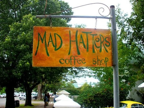 Madhatters Coffee Shop: MADHATTERS SIGN POST
