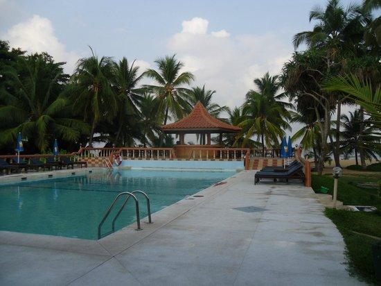 Golden Star Beach Hotel: utsikt från restaurangen