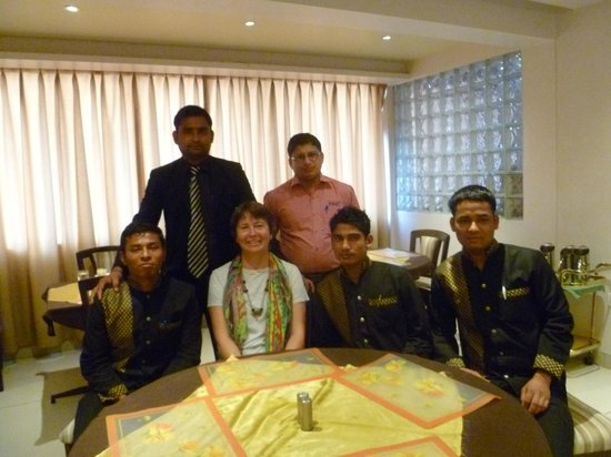 Hotel Prince: What a great bunch of restaurant staff