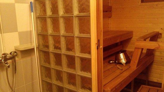 Santa's Hotel Tunturi: Baño con ducha y sauna