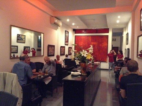 Red Sky Bar & Restaurant: Upstairs restaurant