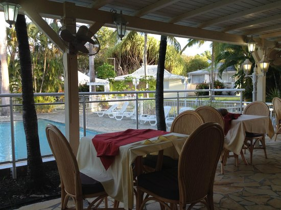 Hotel Residence Golf Village : La vue du petit dej