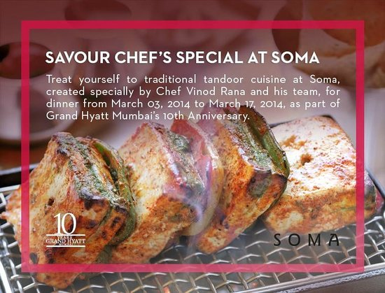 Soma (Indian Cuisine) at Grand Hyatt Mumbai: CHEF'S SPECIAL OF THE DAY AT SOMA