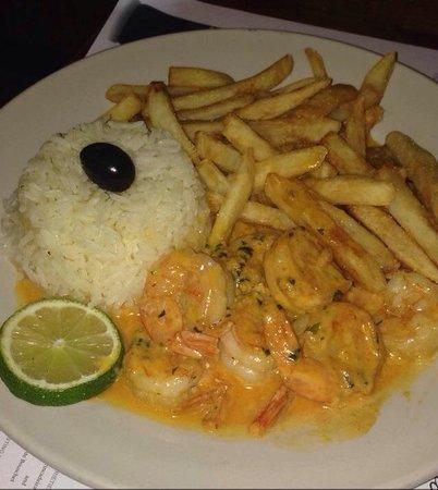 Restaurant Luanda: Shrimp Mozambique!