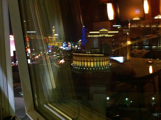 The Mirage Hotel & Casino: room view 3 with small window opening +++