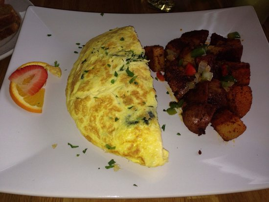 JJ's Caffe: Spinach and cheese omelet