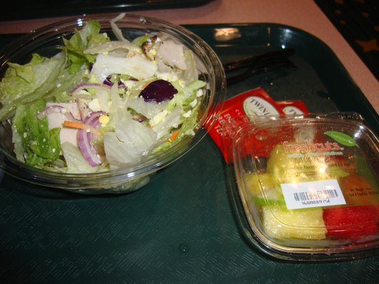 Intermission Food Court: Chicken salad and fruit cup