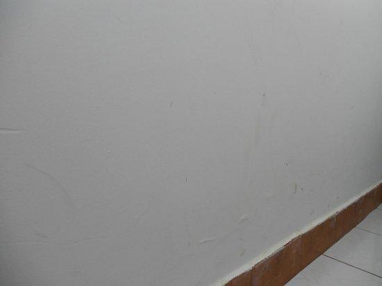 Hotel Pousada Bonsai: Parede suja e infiltrada