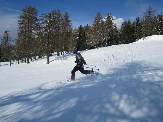 Hotel Bellavista: Corsa in neve fresca di un partecipane alla spedizione!!!!