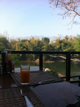 Boutique Raft Resort: from the restaurant