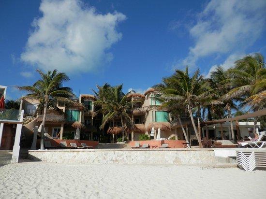 Playa La Media Luna Hotel : Hotel view from beach