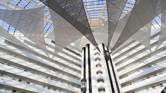 Crown Metropol Perth: Roof sails in the atrium